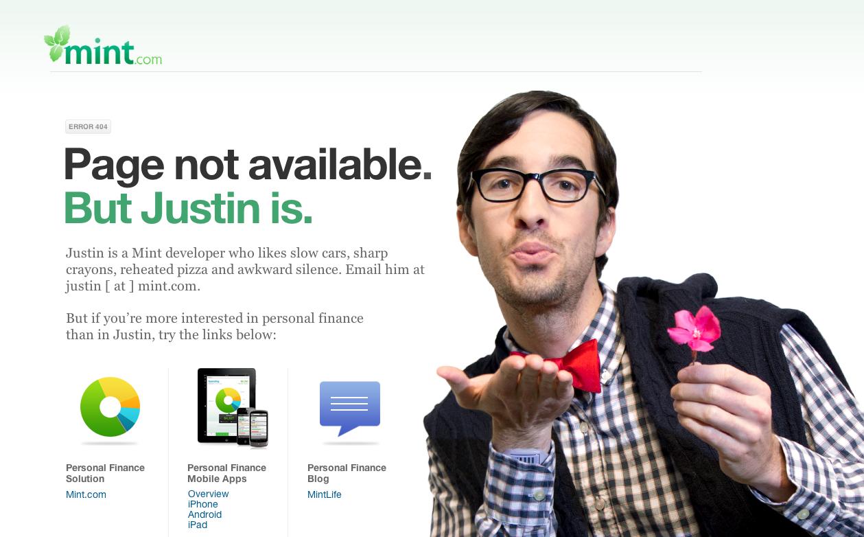 Marketing Hacks: Funny Error Page