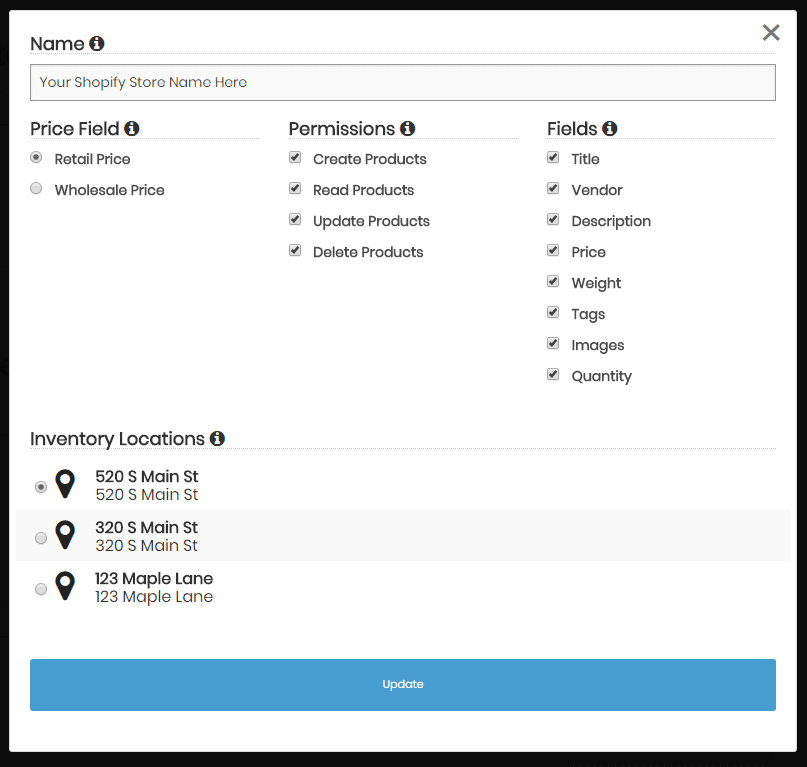 New ChannelApe Feature: Shopify Multi-Location Inventory | ChannelApe