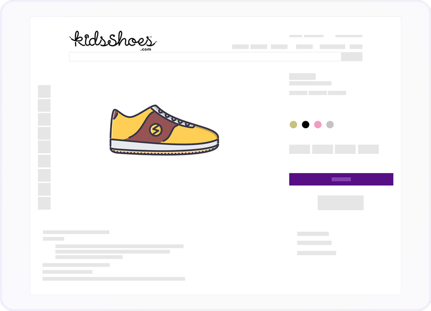 kidsshoes app screen