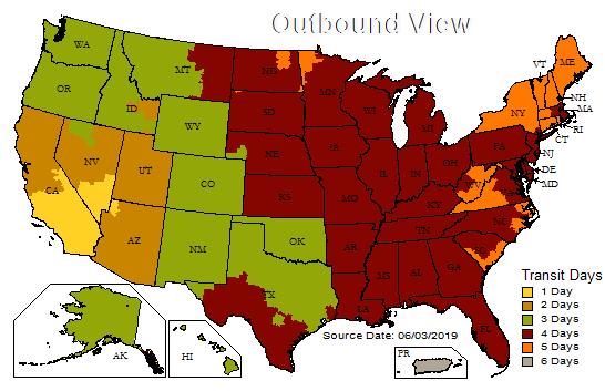 UPS transit map